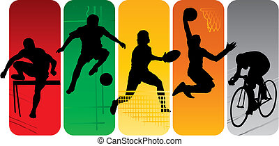 silhuetter, sport