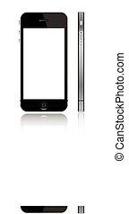 skærm, 5, hvid, iphone