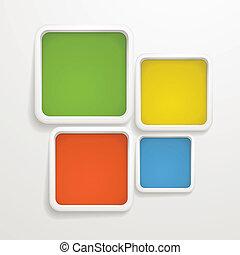 skabelon, farve, tekst, abstrakt, boxes., baggrund