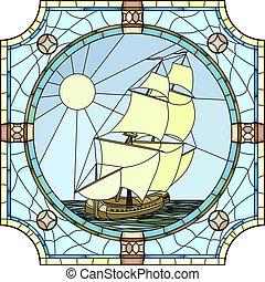 skibe, 17, afsejlingen, century.