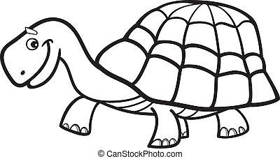 skildpadde, coloring bog