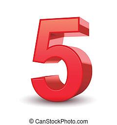 skinnende, 5, antal, rød, 3
