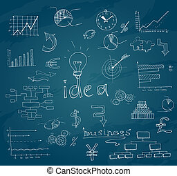 skitse, chalkboard, firma