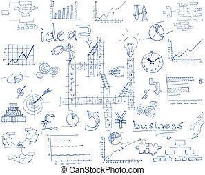 skitse, infographic, firma
