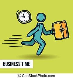 skitse, ledelse, firma, tid