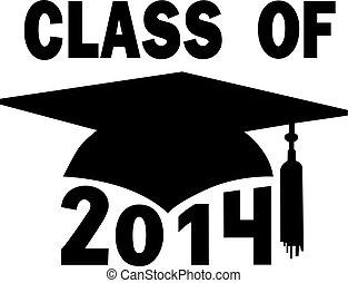 skole, cap, examen, høj, læreanstalt, 2014, klasse