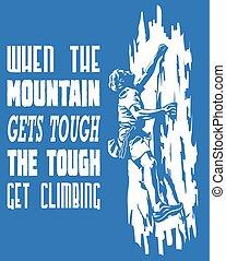 skrap, hvornår, det får, klatre, få, bjerg