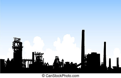 skyline, industriel