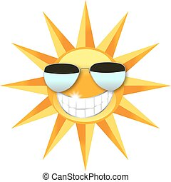 slide, sol, sunglasses