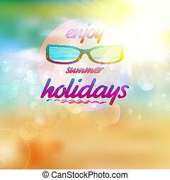 slide, sommer, sunglasses., himmel, sol