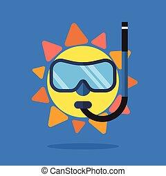 slide, sommer, sunglasses, sol