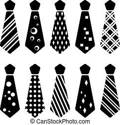 slips, silhuetter, vektor, sort