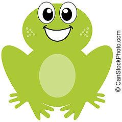 smil, grøn frø