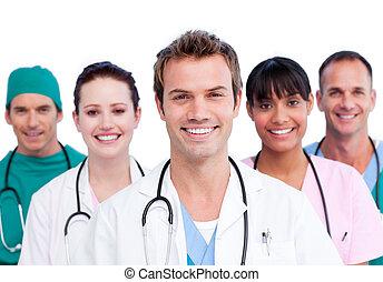 smil, medicinsk hold, portræt