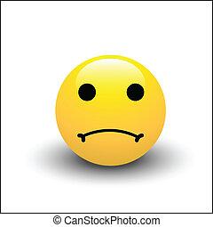 smiley, sørgelige, zeseed