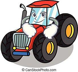 smirking, firmanavnet, karakter, cartoon, traktor