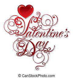smukke, dag, baggrund, valentine's