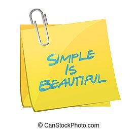 smukke, enkel, meddelelse, poster, illustration