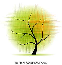 smukke, kunst, træ