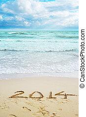 smukke, tegn, år, 2014, strand, udsigter