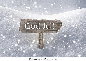 sneflager, gud, jul, tegn, glædelig jul, betyde
