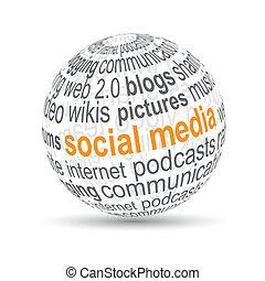 """""""social, bold, media"""", 3"""