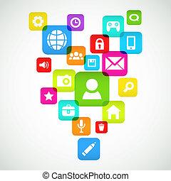 sociale, medier, baggrund
