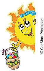 sol, åg, påske, lurking