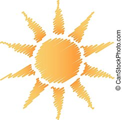 sol, abstrakt, grifle, logo