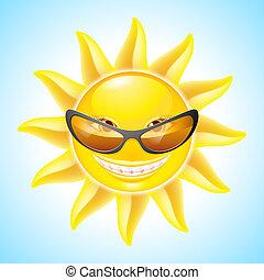 sol, cartoon