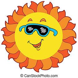 sol, cartoon, glade