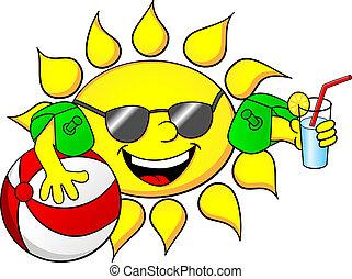 sol, ferie, sommer