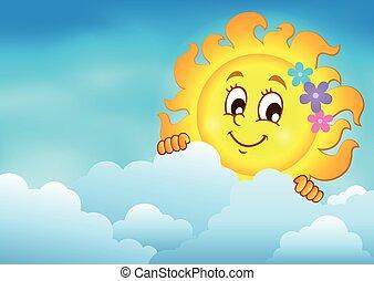 sol, himmel, grumset, lurking