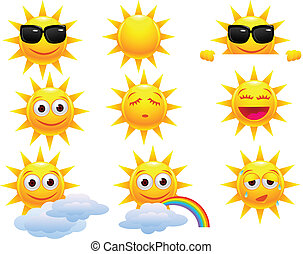 sol, karakter, cartoon