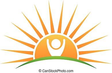 sol, liv, logo, folk