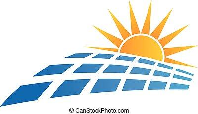 sol, logo, panel, sol