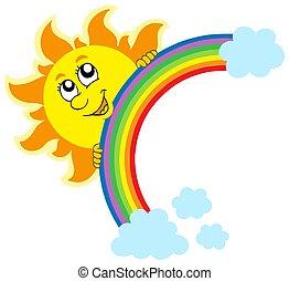 sol, lurking, regnbue
