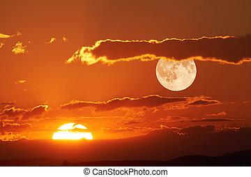 sol, måne