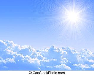 sol, skyer
