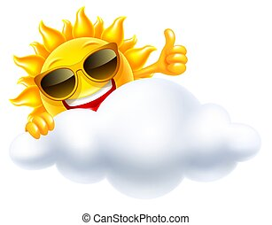 sol, smil, sky, bag efter