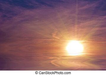 sol stråle, opblussende