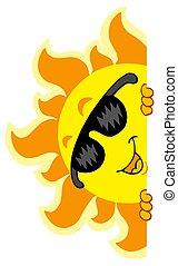 sol, sunglasses, lurking