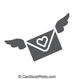 solid, constitutions, tegn, konvolut, email, baggrund., vektor, brev, mønster, grafik, ikon, hvid, meddelelse, glyph