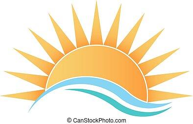 solskin, bølger