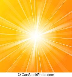 solskin, vektor, illustration