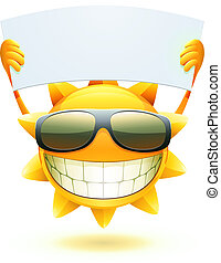 sommer, glade, sol