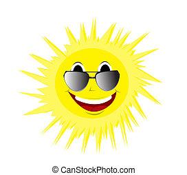 sommer, glade, sunglasses, sol