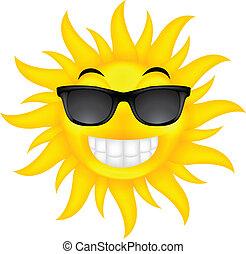 sommer, glas, glade, sol