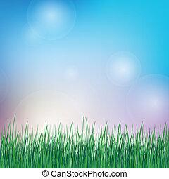 sommer, græs, grøn baggrund