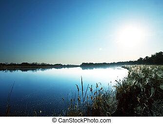 sommer, sø